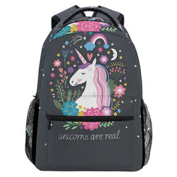 ZZKKO Animal Unicorn Boys Girls School Computer Backpacks