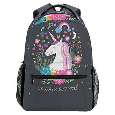 ZZKKO Animal Unicorn Boys Girls School Computer Backpacks