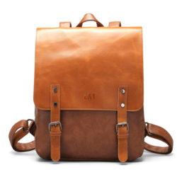 LXY Vegan Leather Backpack Vintage Laptop
