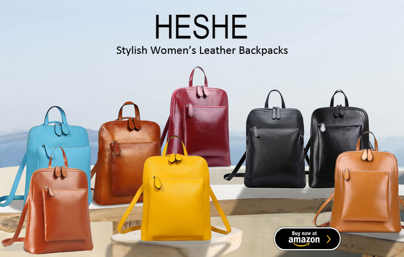 HESHE Leather Backpacks